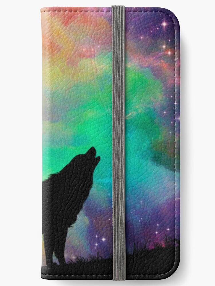 """""""Howling Wolf""""   Epic Galaxy Artwork Design von ArtByMadeleine"""