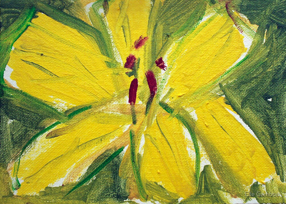 Weeping Yellow Flower - 5 x7 inches - FOR SALE by Elle Gamboa