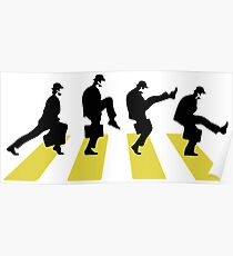 Ministry of Silly walk | Cult tv  Best of British | Monty Python Poster