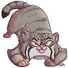 Pallas Cat Stickers by Lacey  Ewald