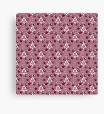Joy, Peace, Love! pink tiny Canvas Print