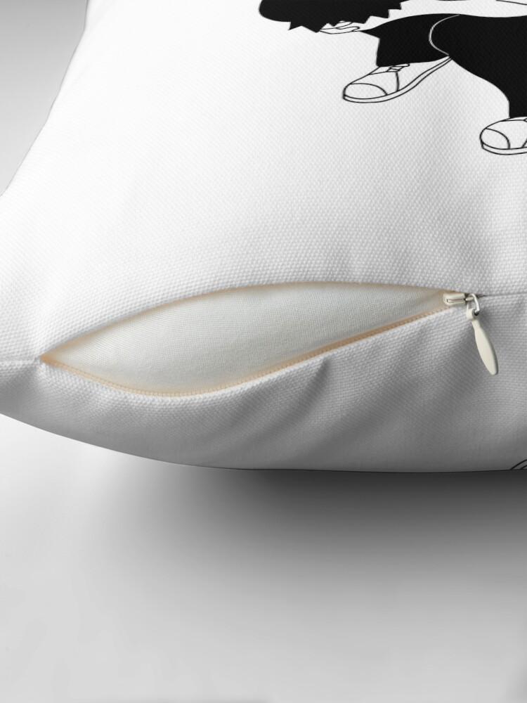 Alternate view of Sad boy Throw Pillow