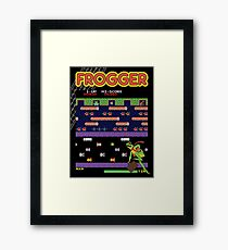 Frogger the Classic Arcade Video Game Framed Print