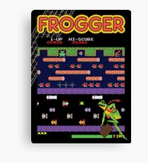 Frogger the Classic Arcade Video Game Canvas Print