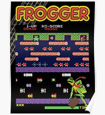 Frogger the Classic Arcade Video Game Poster
