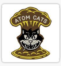 Atom Katzen Aufkleber Sticker
