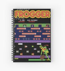 Frogger the Classic Arcade Video Game Spiral Notebook