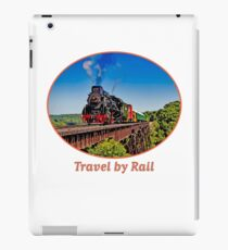 """Travel by Rail"" Cool Vintage Steam Train engine iPad Case/Skin"