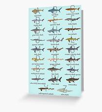 Shark Alphabet Greeting Card