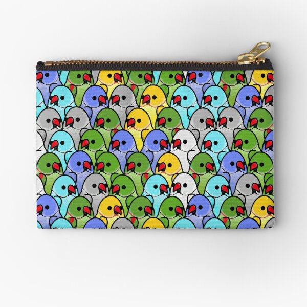Too Many Birds! - Ringneck Squad Zipper Pouch