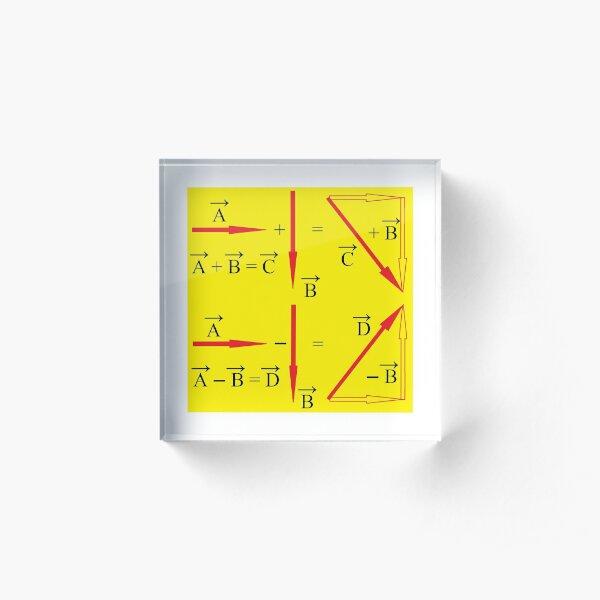Vector Summation; and Vector Subtraction Acrylic Block