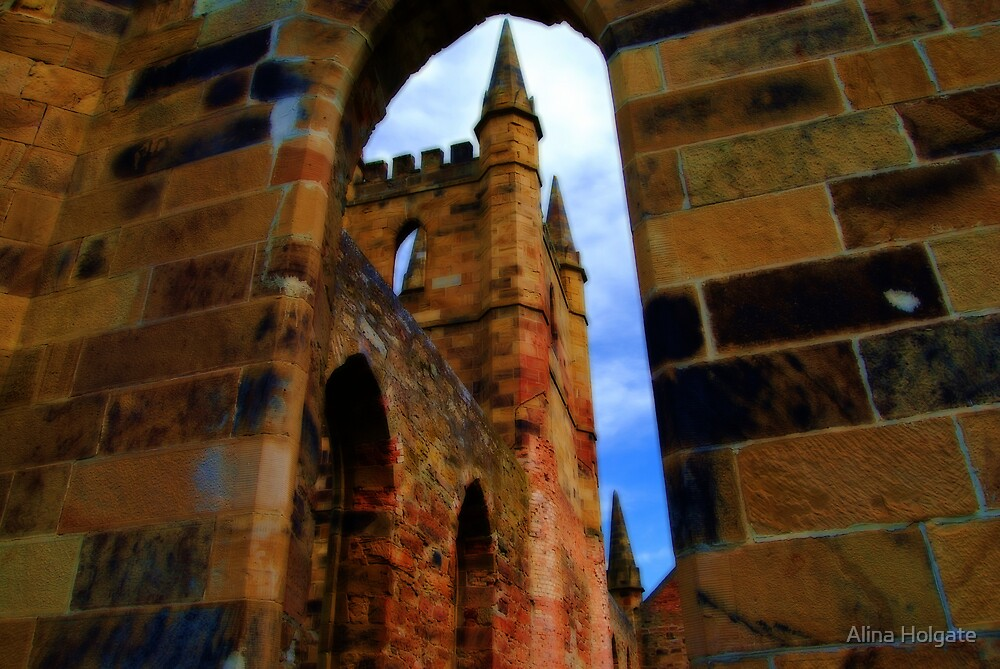 Church at Port Arthur given the Orton effect by Alina Holgate