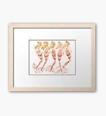 BLONDE WAVE // 12 Days of Mermaids Series Framed Print
