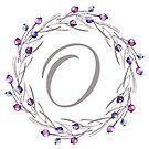 Monogramm-Buchstabe O | Personalisiert | Aquarell Design von PraiseQuotes