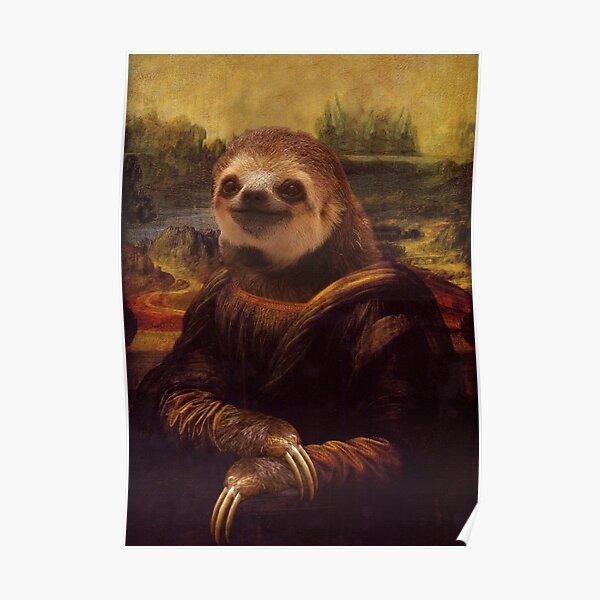 Sloth Mona Lisa Poster