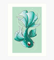 Green Goldfish by HJ Lee Art Print