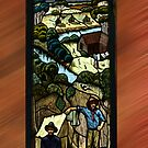 Leadlight Window depicting early West Gippsland Life - No 1 by Bev Pascoe