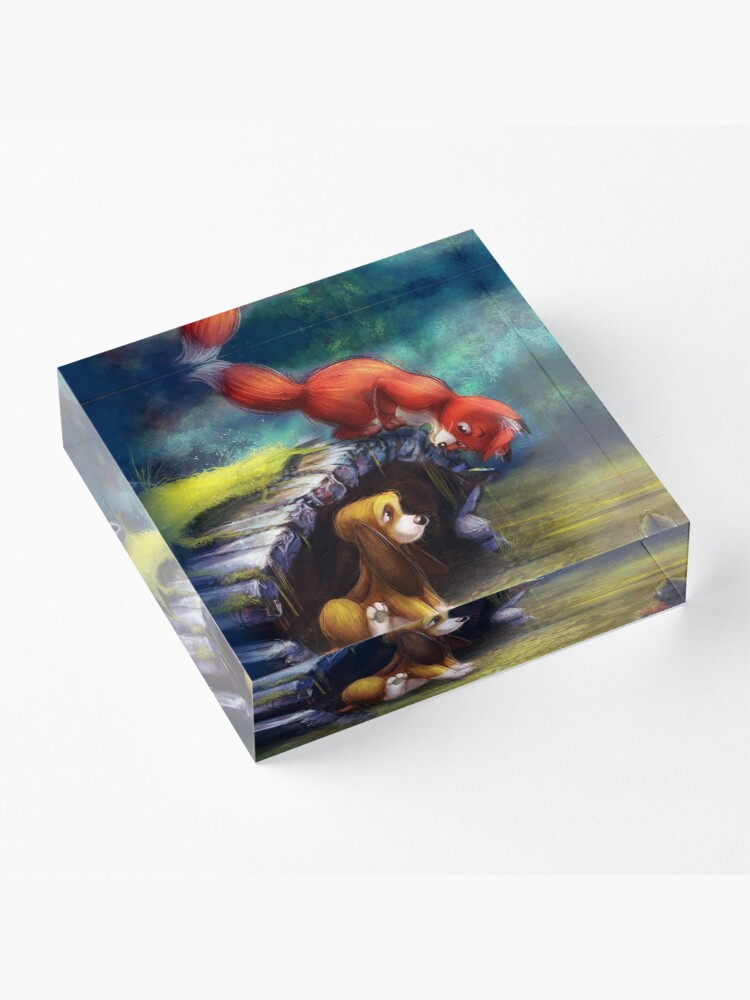 Alternate view of When You're the Best of Friends Acrylic Block