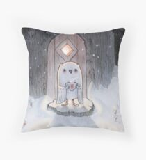 Before Bedtime, One Winter Night Throw Pillow