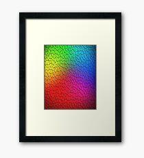 Rainbow Mosaic Texture Framed Print