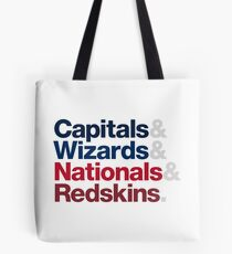 Washington DC Sports Teams Tote Bag