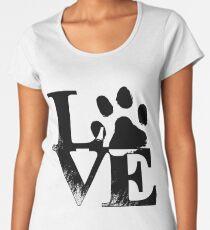 Love My Dog Paw Print Women's Premium T-Shirt