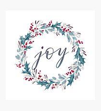 Christmas Watercolour Wreath Photographic Print