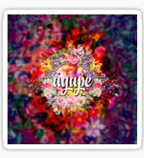 Agape -  The Highest Form Of Love - Inspirational Quote - Floral Art Sticker