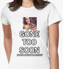 Bust one for August Ames Fitted T-Shirt