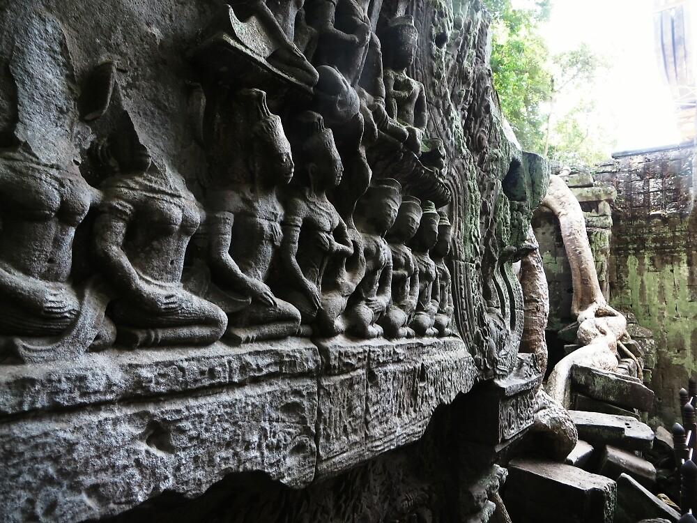 Ta Prohm Ruins - Angkor Wat, Cambodia by Raw Safari Print Shop