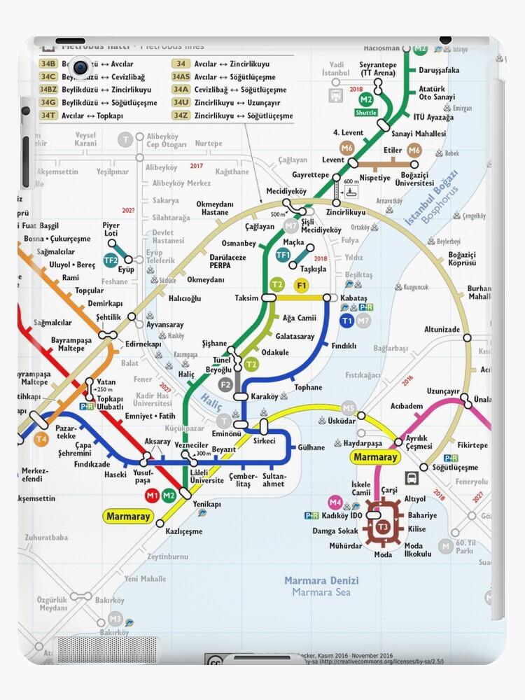 Subway Map Of Istanbul.Istanbul Metro Map Turkey Ipad Case Skin By Superfunky