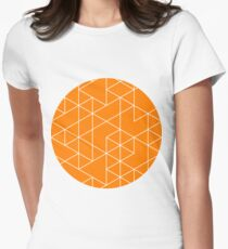 triangles, white and saturated orange T-Shirt