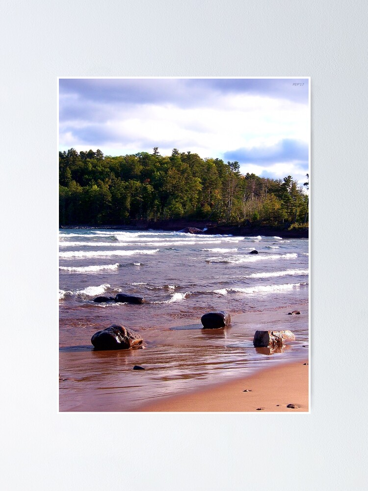 Alternate view of Rocks Along The Shore Poster