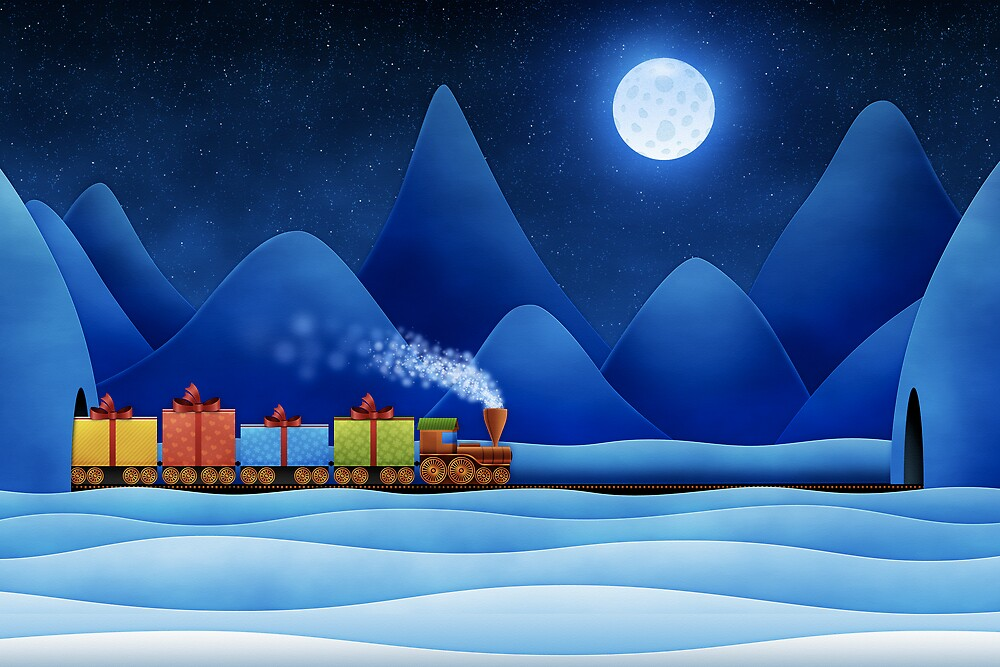 Christmas Train by vladstudio