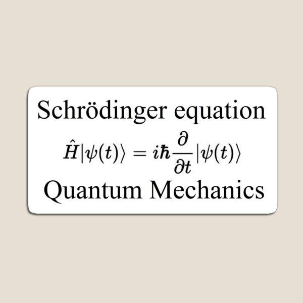 Physics Prints,  Physics, Quantum Mechanics: Schrödinger Equation - #QuantumMechanics, #SchrödingerEquation, #Quantum, #Mechanics, #Schrödinger, #Equation, #Physics Magnet
