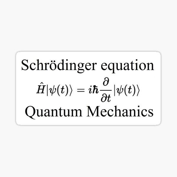 Physics, Quantum Mechanics: Schrödinger Equation - #QuantumMechanics, #SchrödingerEquation, #Quantum, #Mechanics, #Schrödinger, #Equation, #Physics Sticker