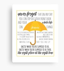 How I Met Your Mother Canvas Print