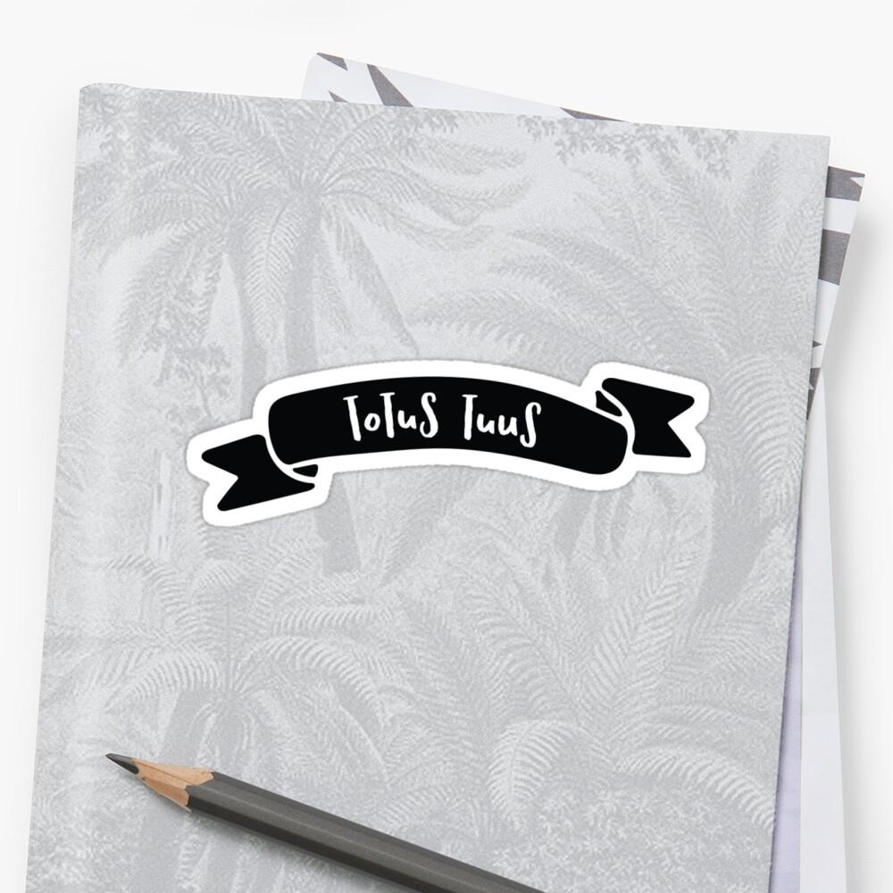 Totus Tuus Banner Sticker