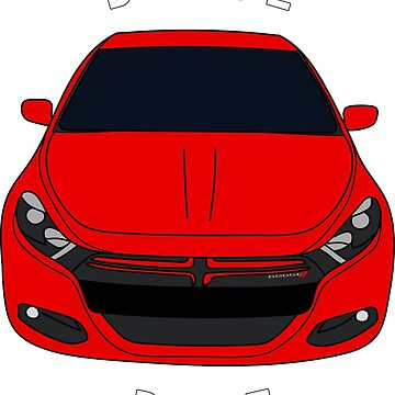 Dodge Dart Red Front End by Jessimk