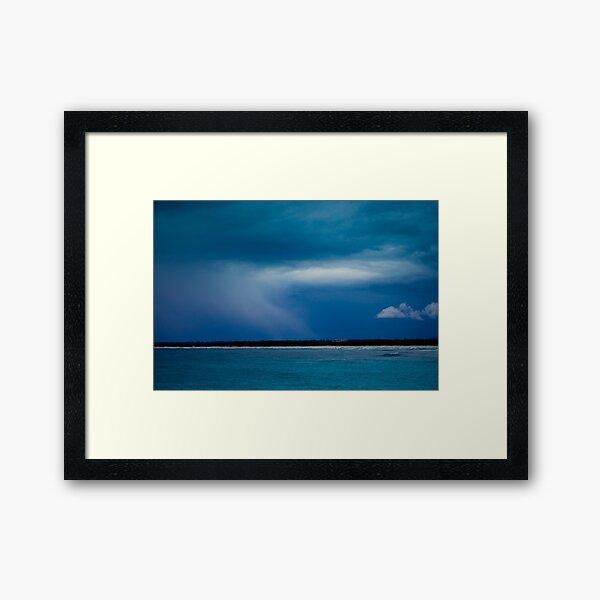 Blue Storm Framed Art Print