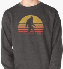 Retro Bigfoot Silhouette Sun Vintage  - Believe! Pullover