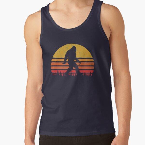 Retro Bigfoot Silhouette Sun Vintage  - Believe! Tank Top