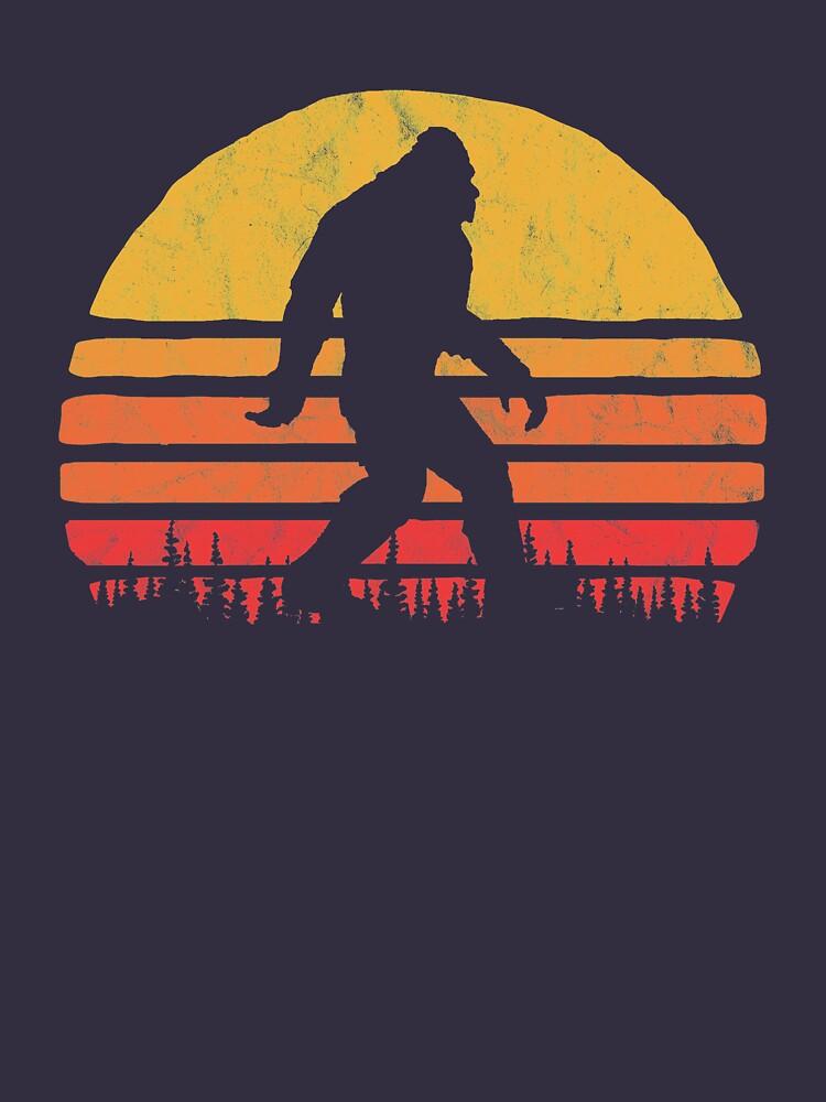 Retro Bigfoot Silhouette Sun Vintage  - Believe! by giantstepdesign