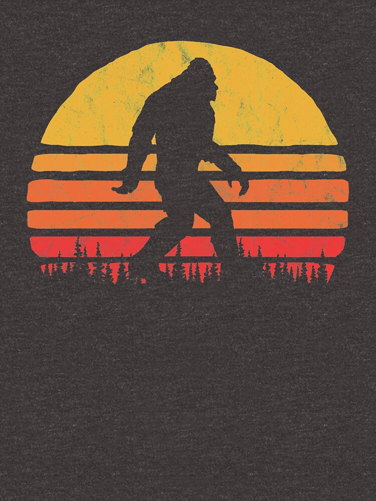 Retro Bigfoot Silhouette Sun Vintage  - Believe! by giantstepdesign