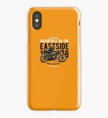 Eastside Motorcycles Retro Custom T-Shirt iPhone Case/Skin