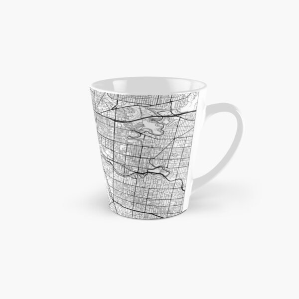 Melbourne Map Minimal Tall Mug