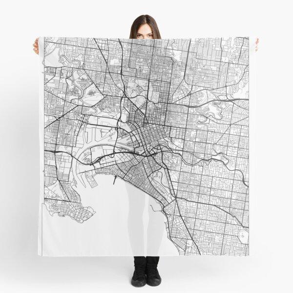 Melbourne Map Minimal Scarf