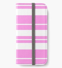 Pink and white stripe pattern  iPhone Wallet/Case/Skin