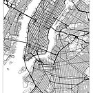 New York Map Minimal by HubertRoguski