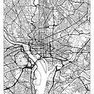 Washington Map Minimal by HubertRoguski